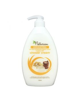 Naturian Wholesome Organic Wheat & Goat's Milk Shower Cream 1000ml